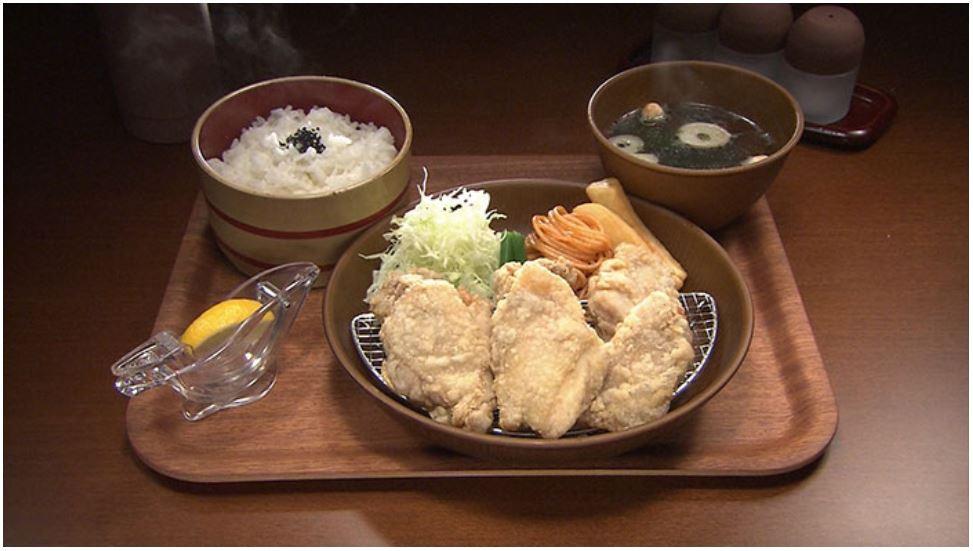 日村さんが食べた『ふじや』の絶品からあげ